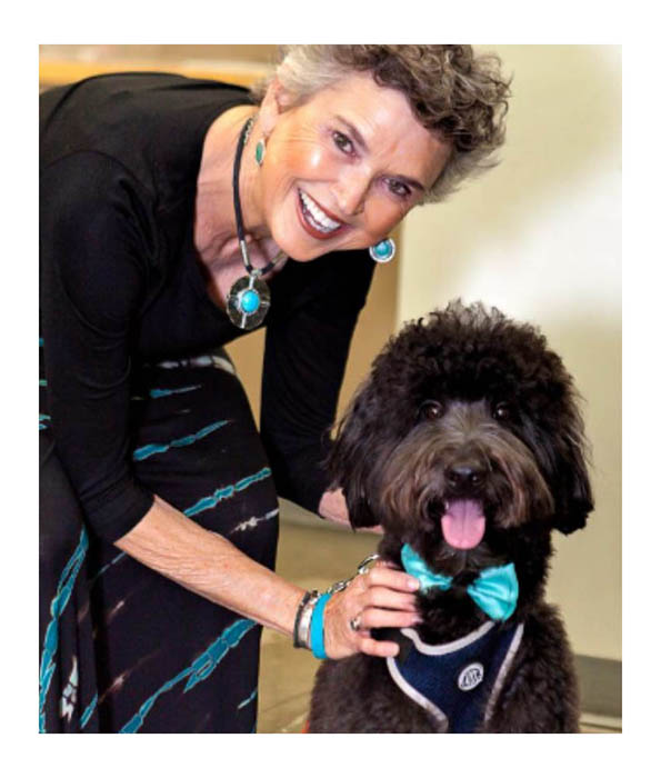 Jan & Bozeman pet therapy dog
