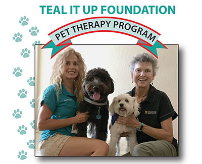 teal it up pet therapy