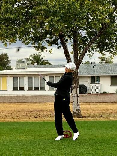 Laurel golfing in Teal it Up tourney