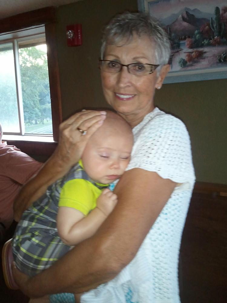 Laurel with grandson