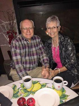 Laurel Pracht and hubby at wedding rehersal dinner