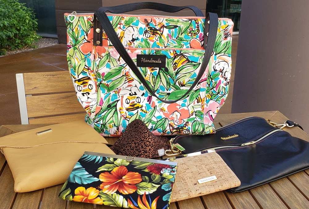 handmade wallets, purses and bags